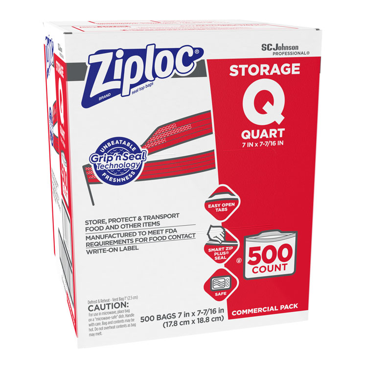 Bulk Ziploc Storage Bags Quart 500 Box