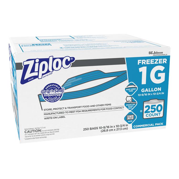 Bulk Ziploc Storage Bags Gallon Freezer 250 Box