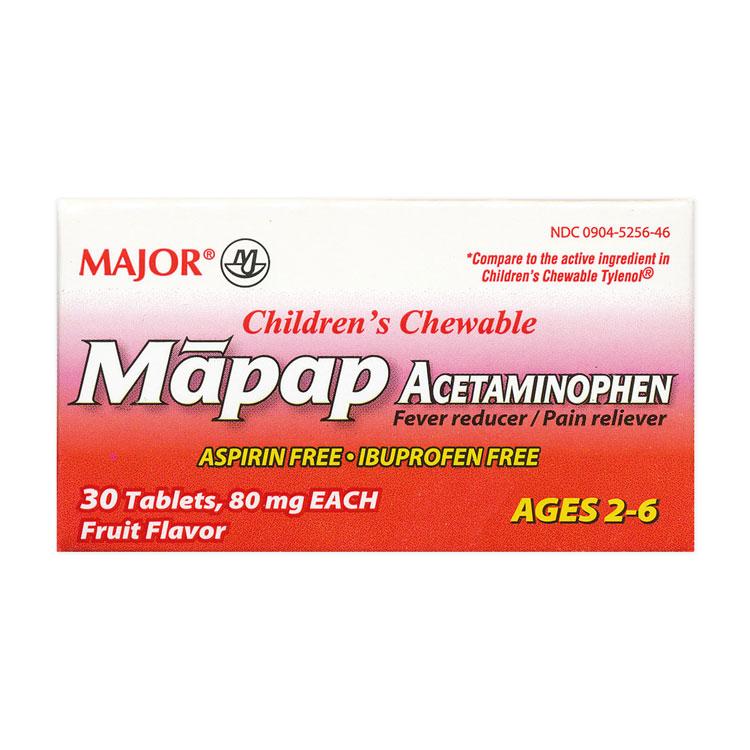 Acetaminophen Children S Chewable Tablet 80mg 30 Bottle