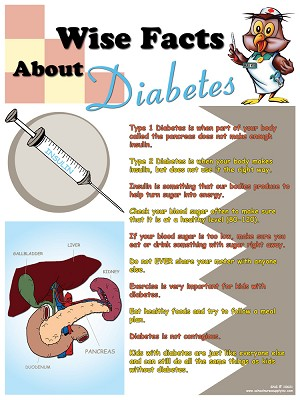 Wise Facts About Diabetes Poster