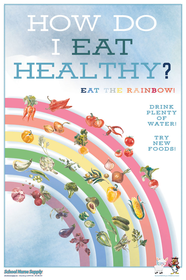 SNS Well-Rounded Poster Series - Eat Healthy (Paper)
