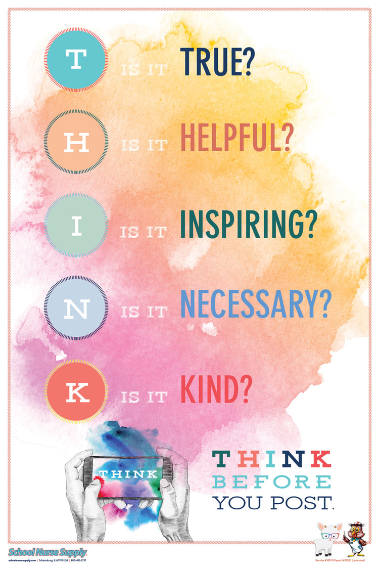 SNS Kindness Poster Series - THINK (Paper)