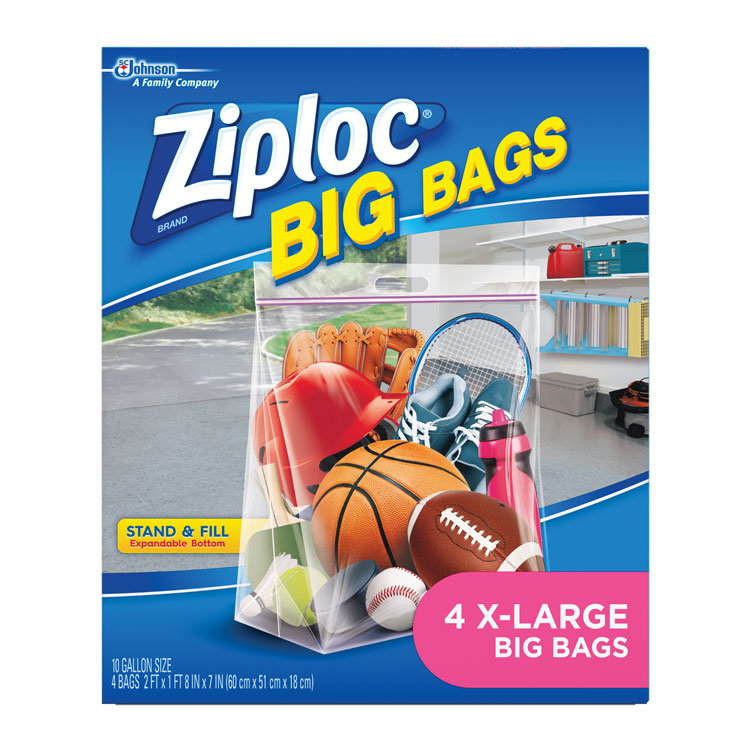 Ziploc BIG Bags - X-Large, 10 Gallon (4-ct)
