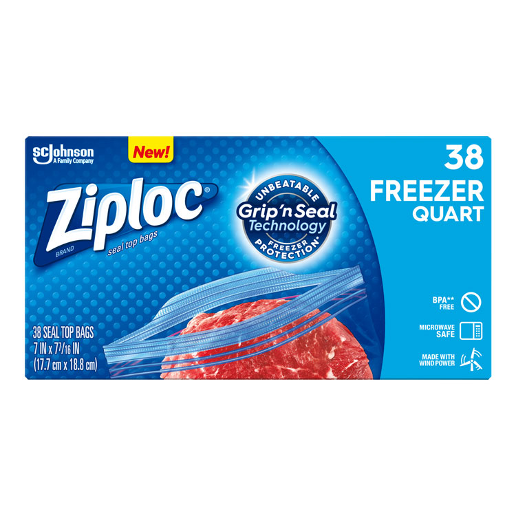 Ziploc Heavy Duty Freezer Bags - Quart (38-ct)