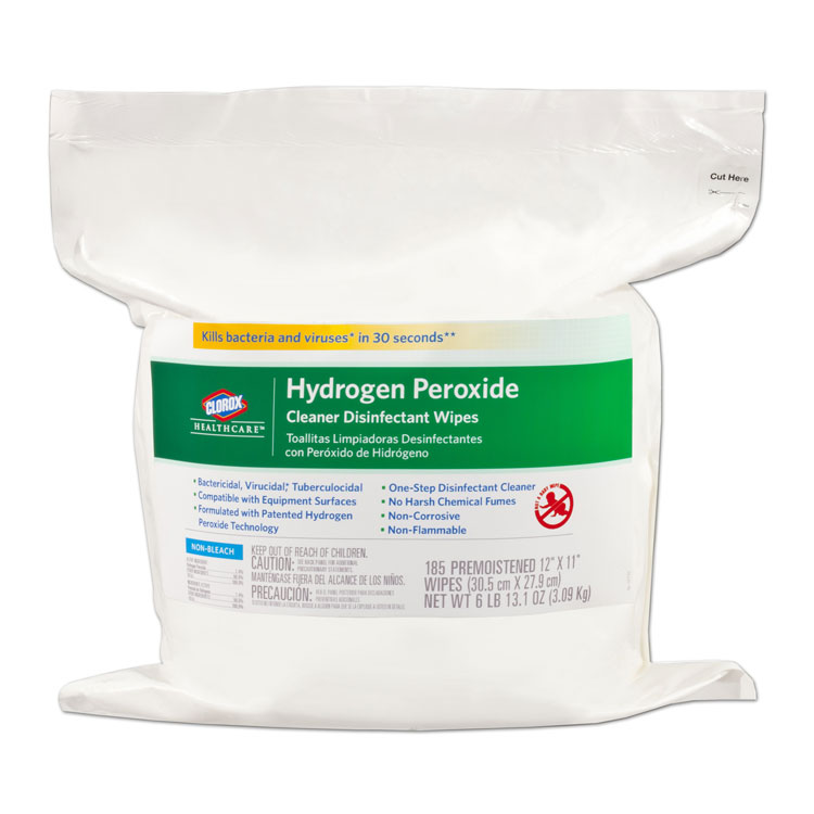 Clorox with Hydrogen Peroxide - Wipes (185 Refill for Tub)