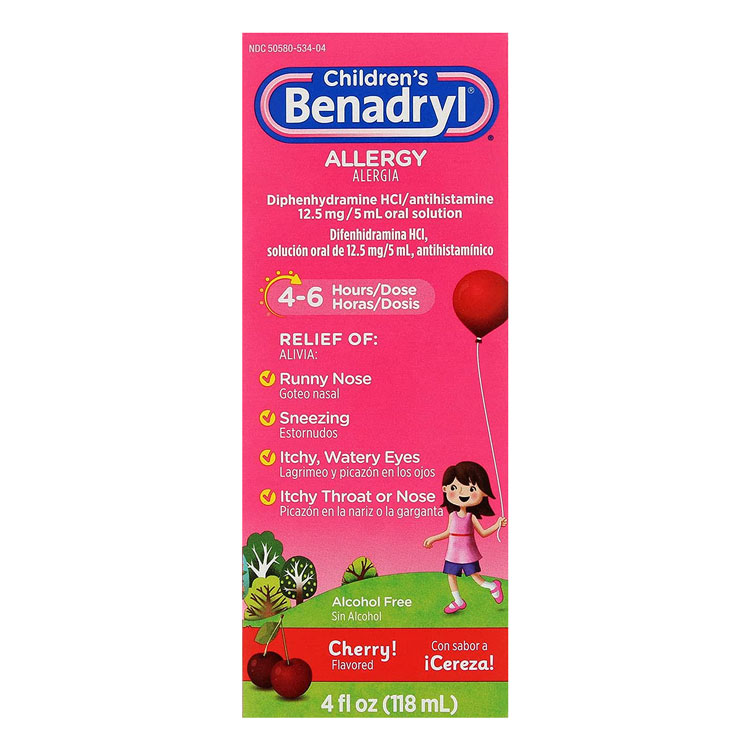 Children S Benadryl Allergy Liquid 4 Oz