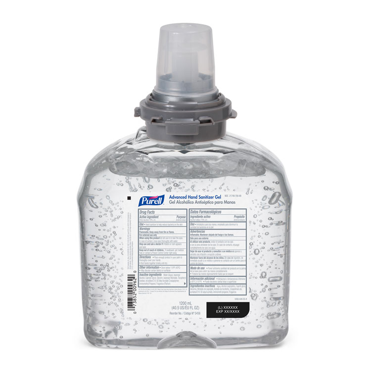 PURELL Advanced Hand Sanitizer Gel - TFX Refill (1200 ml)