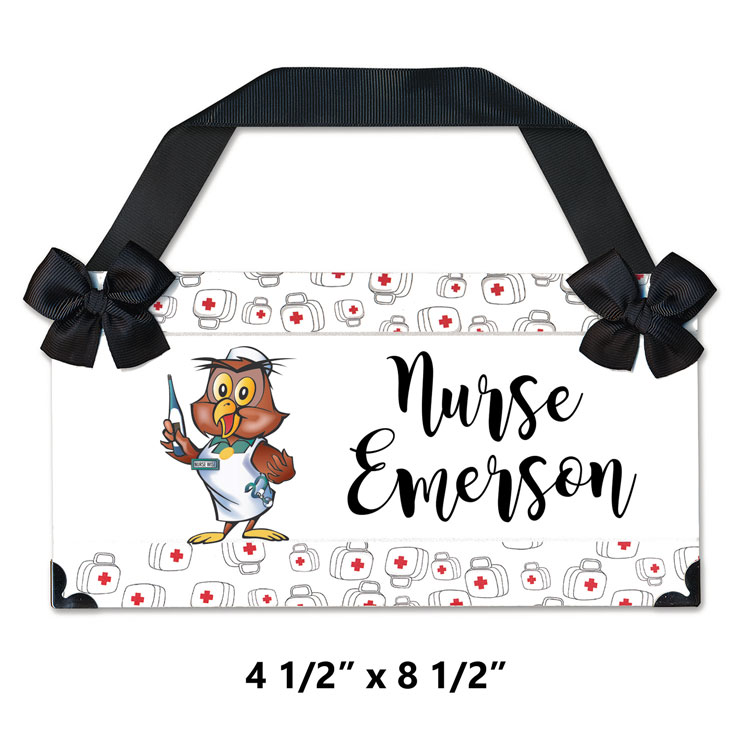 SNS Personalized Nurse Sign - Large (Magnolia Font)