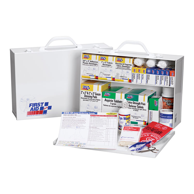 First Aid Only 2-Shelf Metal First Aid Kit (500 Pieces/75-Person)