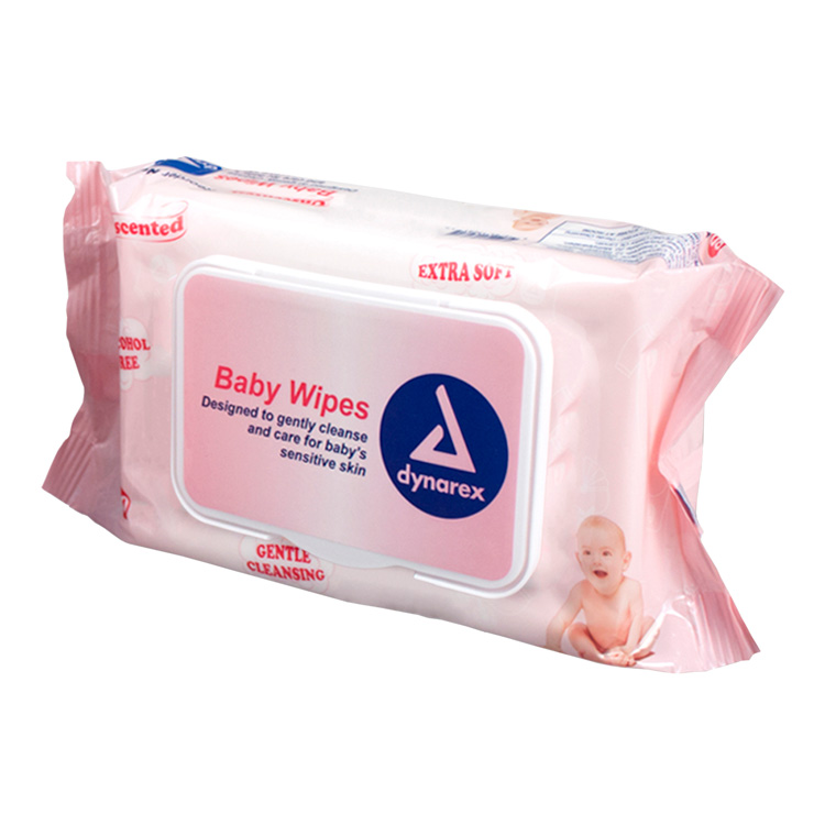 Dynarex Unscented Baby Wipes (80-ct)