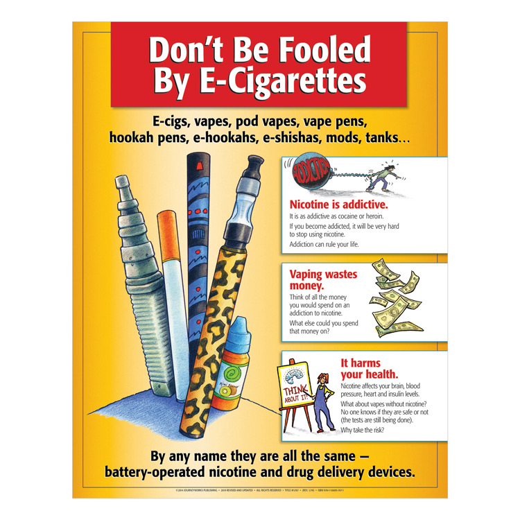 Don't Be Fooled By E-Cigarettes Poster