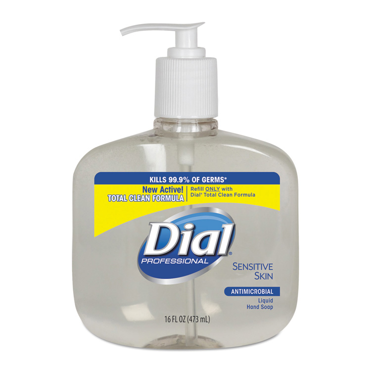 Liquid Dial Sensitive Skin Antimicrobial Soap (16 oz Pump)