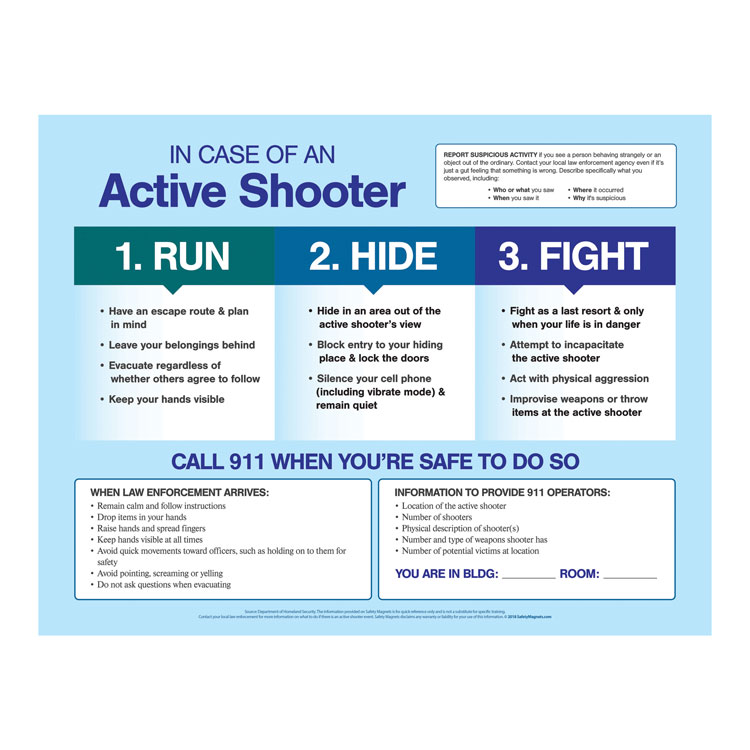Active Shooter Poster (12