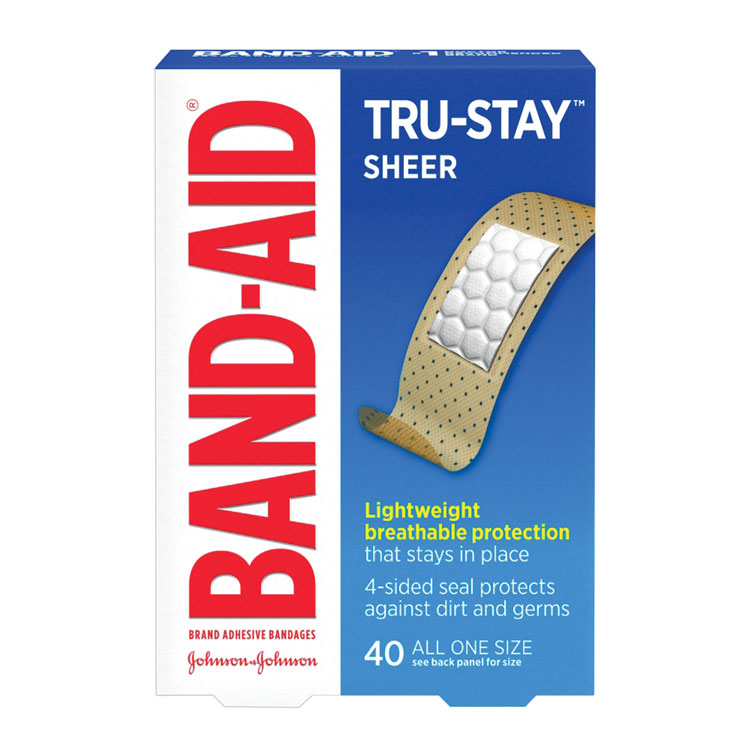 J & J BAND-AID Brand TRU-STAY Sheer Bandages - 3/4
