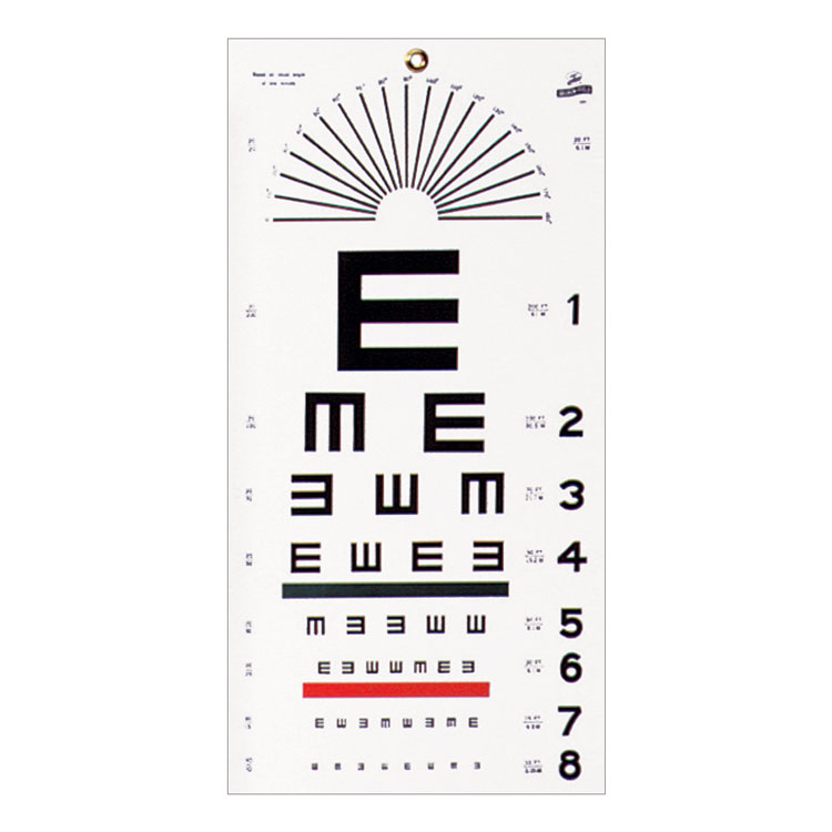 Wall Mount Eye Test Chart Illiterate Tumbling E Click To Expand