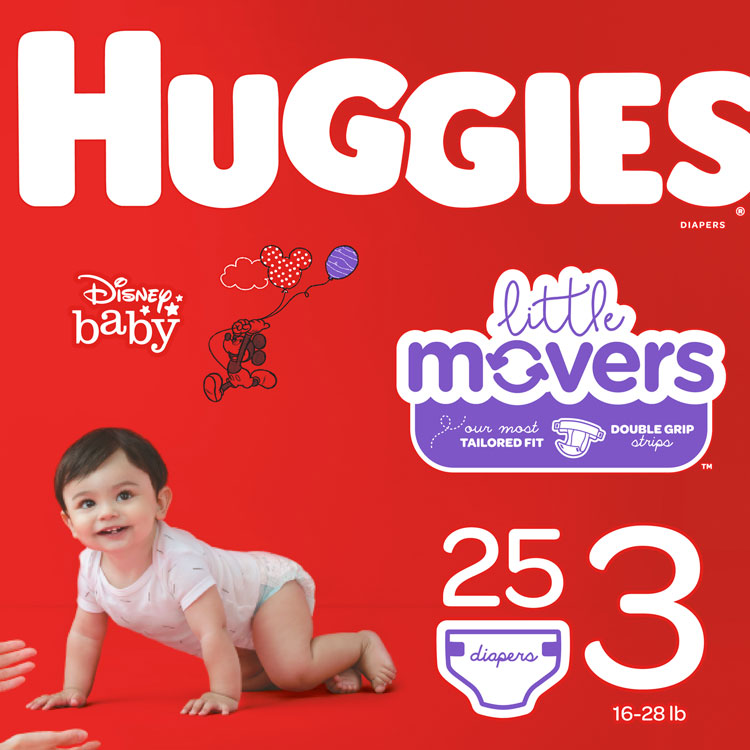 Huggies Diapers - Size 3, 16–28 lbs **CASE of 4 PKGS**