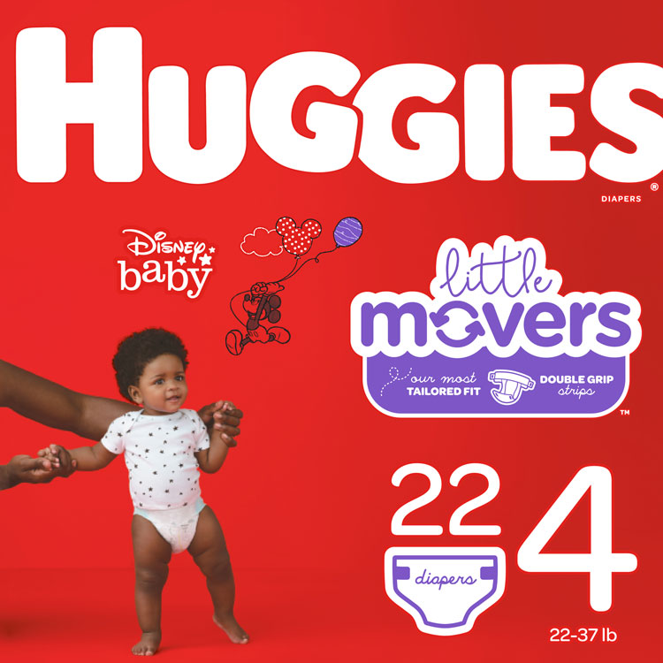 Huggies Diapers - Size 4, 22–37 lbs (22-ct) **CASE of 4**