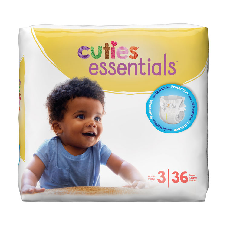 Cuties Diapers - Size 3, 16-28 lbs (36-ct)