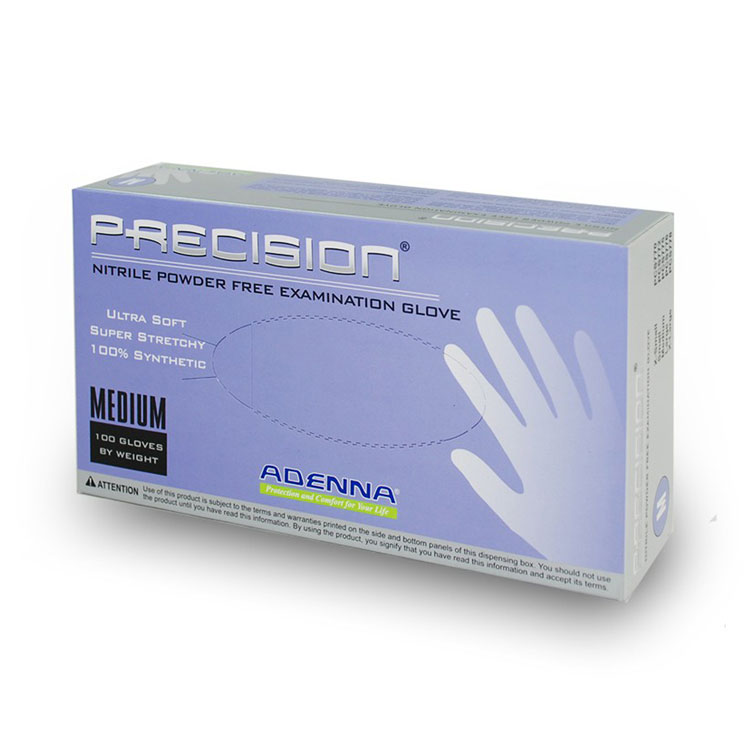 PRECISION Nitrile Powder-Free Exam Gloves - Small (100-ct) **CASE of 10**