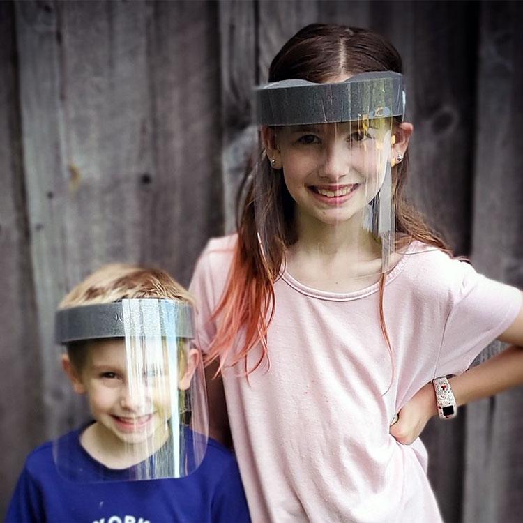 Sécurité Full Face shield for Kids Made in Korea Sangle Réglable Pour S/'adapter tailles!