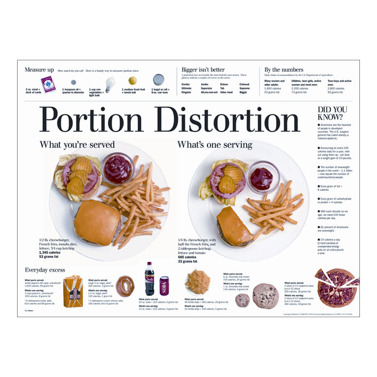 Portion Distortion - Poster (Only) **SPANISH**