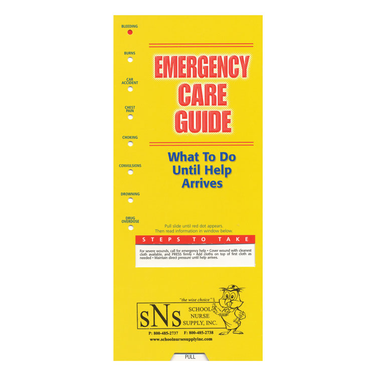 Slide Guide Cards - Emergency Care (Spanish)