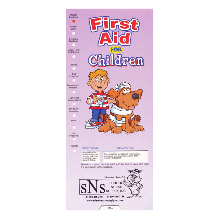 Slide Guide Cards - First Aid for Children