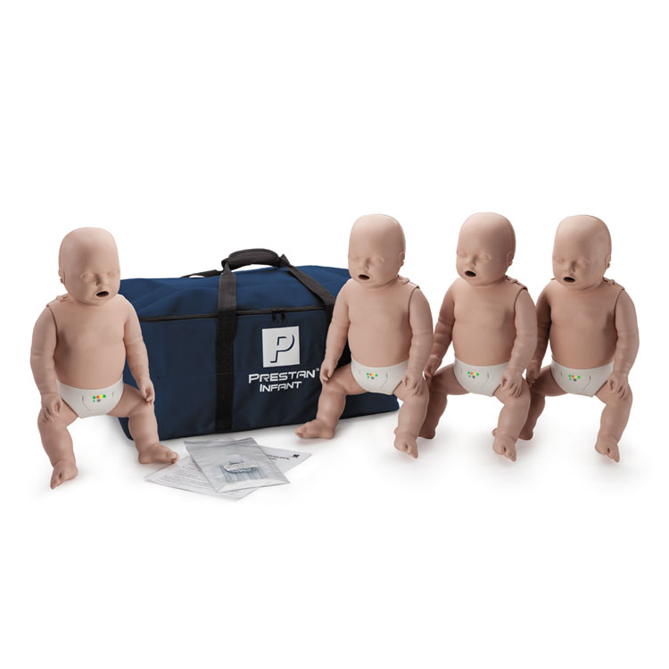 PRESTAN Professional Infant CPR Training Manikins - 4-Pack without CPR Monitor