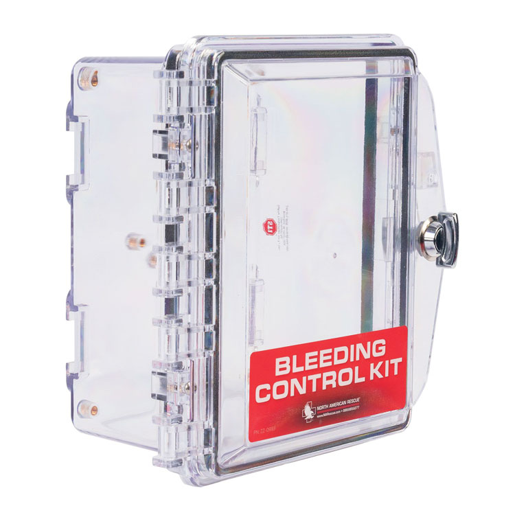 Public Access Individual Bleeding Control Station & Kit – Empty Wall Case (Only)