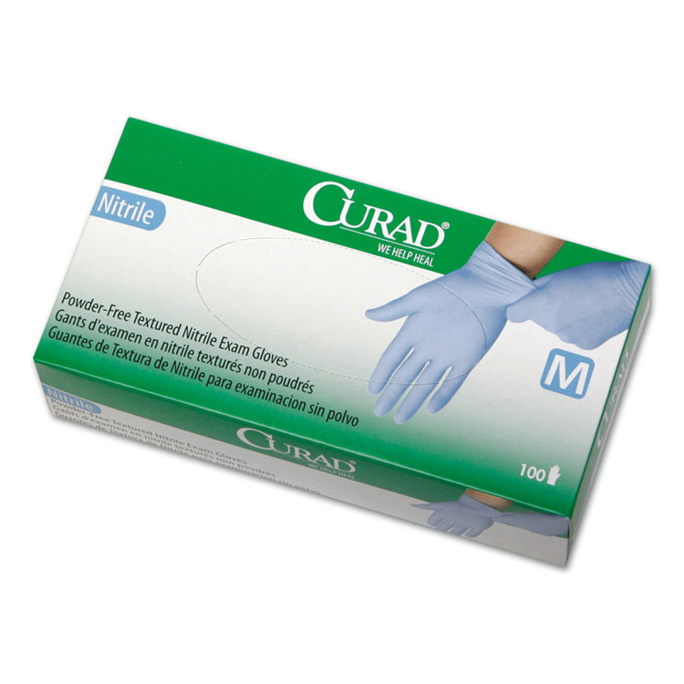 CURAD Nitrile Powder Free Gloves - Medium (150/Box)