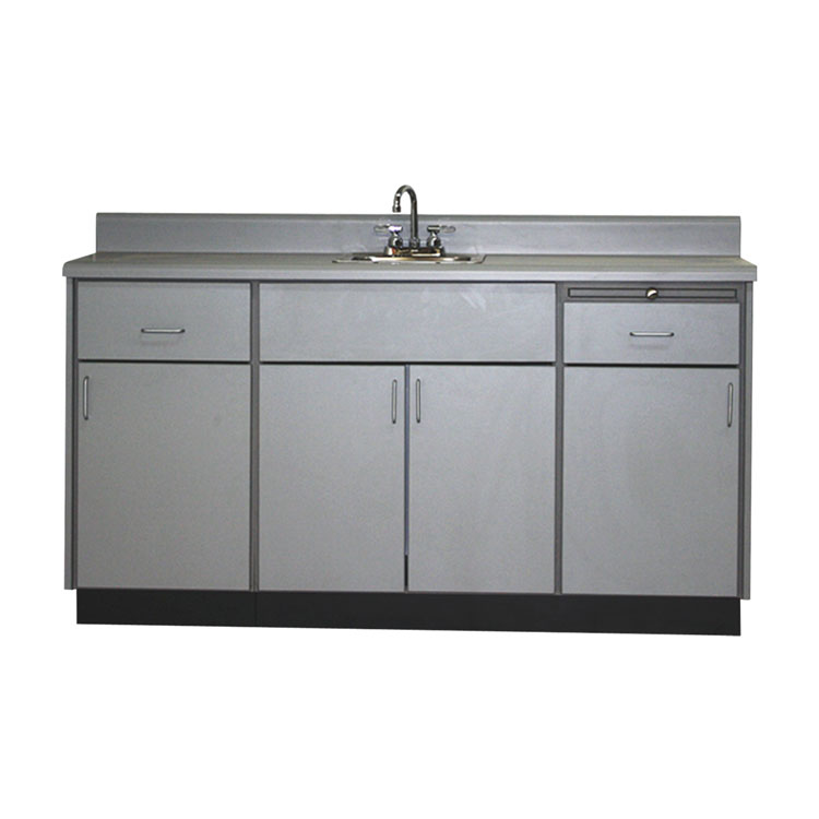 Base Cabinet with 2 Drawers, 4 Doors & Stainless Sink-88277