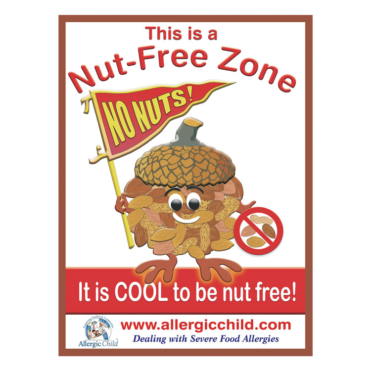 Nut-Free Zone Sign