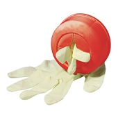 Glove Canister with Double Faced Velcro (Red)