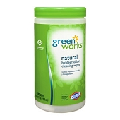 Clorox Green Works Natural Biodegradable Cleaning Wipes (62-ct)