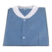 Disposable Lab Coat with Pockets - Large