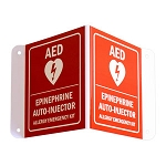 3D Allergy Emergency Kit Wall Signs - Epinephrine & AED