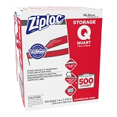 Bulk Ziploc Storage Bags - Quart (500/Box)