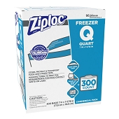 Bulk Ziploc Storage Bags - Quart Freezer (300/Box)