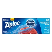 Ziploc Freezer Bags - Pint (20/Box)