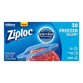 Ziploc Freezer Bags - Quart (38/Box)