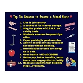 Top 10 Reasons to Become a School Nurse - Mouse Pad