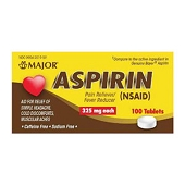 Aspirin - 325mg (100/Bottle)