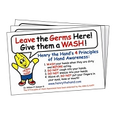 Henry the Hand Sink Reminders - 4 Principles of Hand Awareness (10/Pkg)