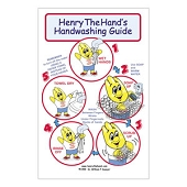 Henry the Hand Handwashing Guide Poster **SPANISH**