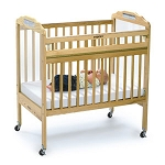 Drop-Gate Clear View Safety Crib - Natural Wood Finish
