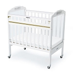 Drop-Gate Clear View Safety Crib - White Wood Finish