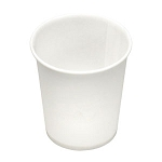 3 oz Flat Bottom Paper Water Cup (100/Tube)