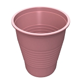5 oz Flat Bottom Plastic Cup - Mauve (50/Tube)