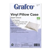 Reusable Plastic Pillow Covers - Zipper Closure (Each)
