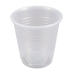 3 1/2 oz Flat Bottom Plastic Cup (100/Tube)